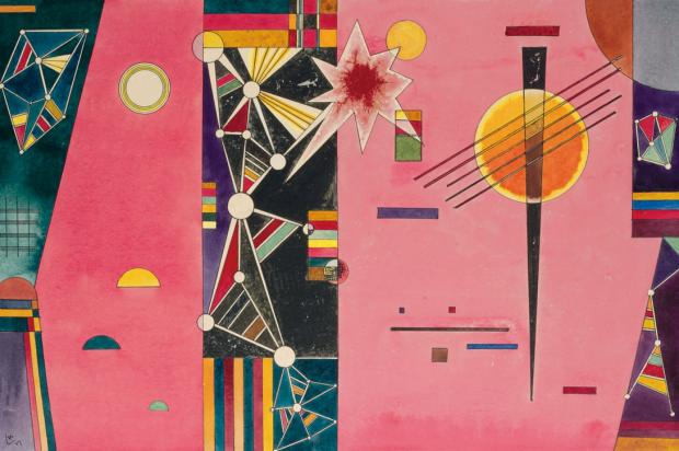 Wassily Kandinsky: Rosa Rot - 1927