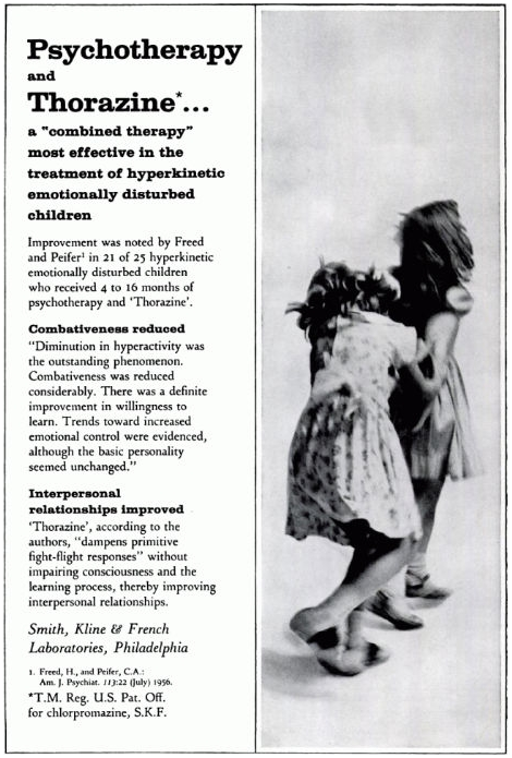 Universal panacea: Shocking Thorazine ads from the 1950s