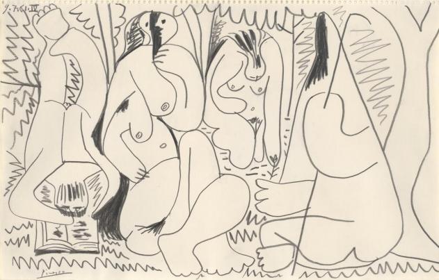 Pablo Picasso - Le déjeuner sur l'herbe, 1961