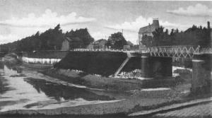 Boschpoort Bossche Fronten met spoordijk trein nr. Hasselt e