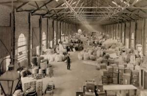 Boschpoort Goederenstation 1913 grote bedrijvigheid