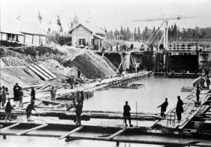 Boschpoort Sandersbrug 1867 Bouw sluis Zd. Willemsvaart