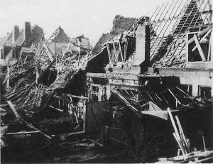 Gildenweg gebombadeerd 27-11-1941