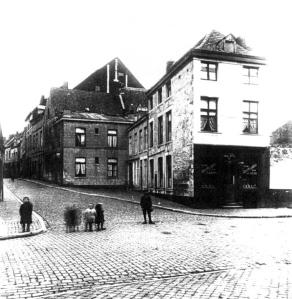 Grote Stokstraat 1929  vanaf Graanmaarkt