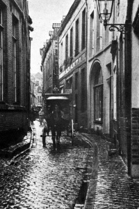 Grote Stokstraat 1930 - paard en wagen