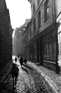 Grote Stokstraat 1950 - vanaf Kleine Stokstraat
