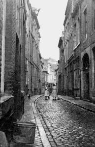 Grote Stokstraat 1950  - vanaf Plankstraat