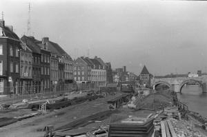 Het Bat 1967 - aanleg van Maasboulevard-1