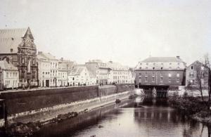 Maasmolen met Kanaal en Kesselskade ±1890