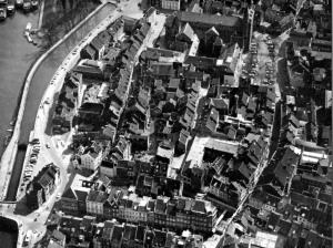 Stokstraatgebied 1962 - overzicht van reconstructiegebied 21 apr