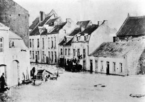 St. Pieterstraat overstroming 1882