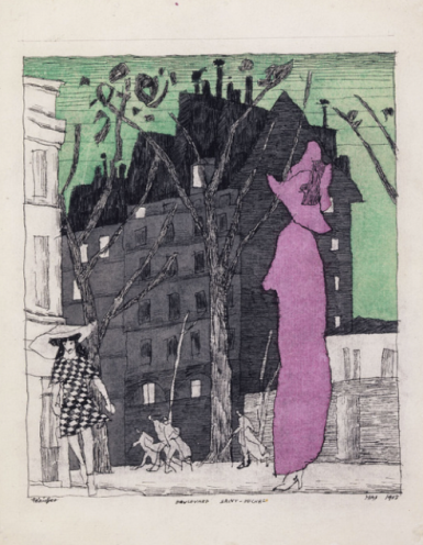 Lyonel Feininger Boulevard Saint-Michel, 1915