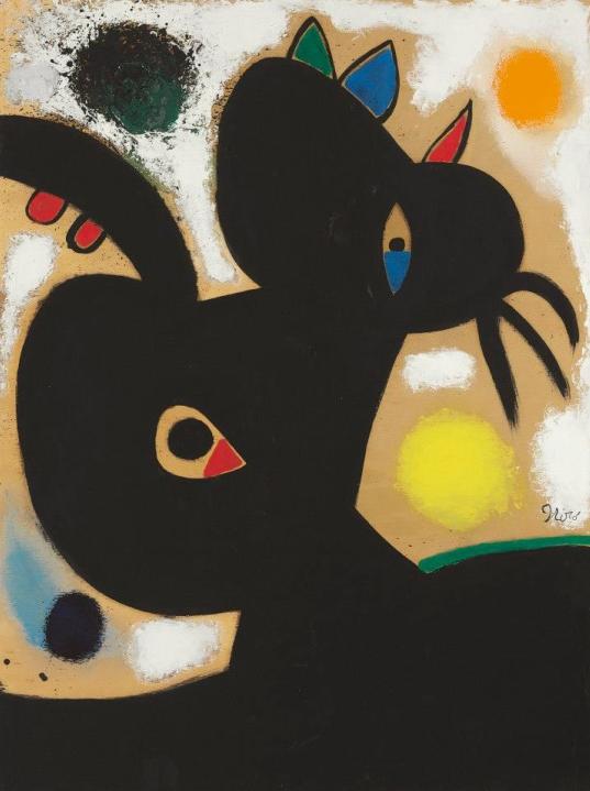Tête de Femme by Joan Miro, November 17, 1976